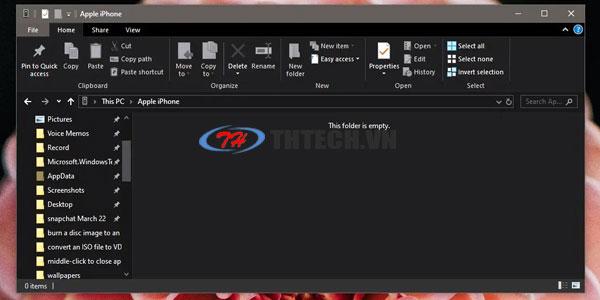 Sửa lỗi không thấy hình ảnh. video khi kết nối Iphone với Windows 10