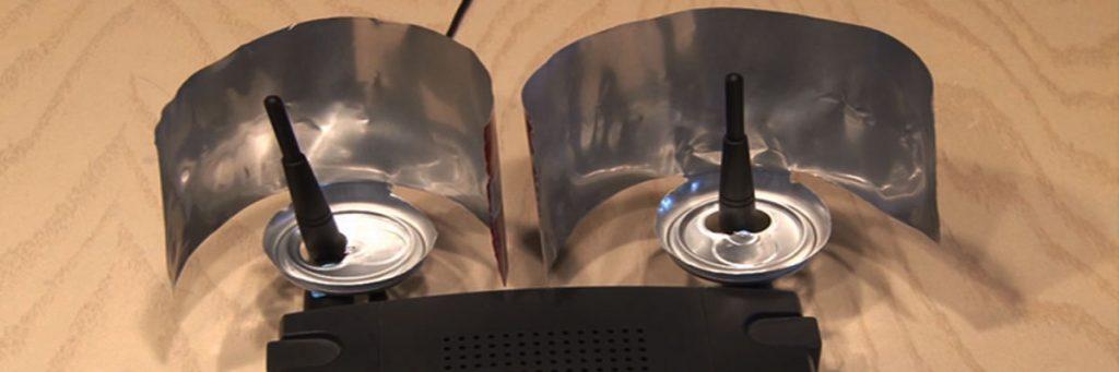 Tập trung tín hiệu Wifi bằng vỏ lon bia